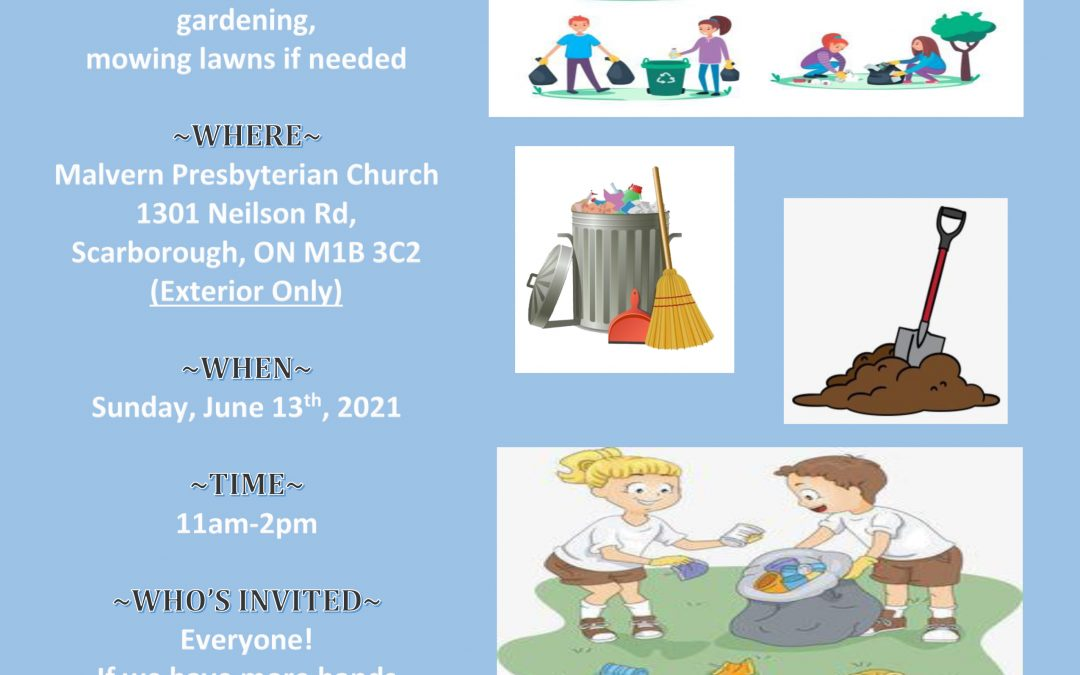 Annual Youth Clean-Up Day – Sun, June 13th, 2021